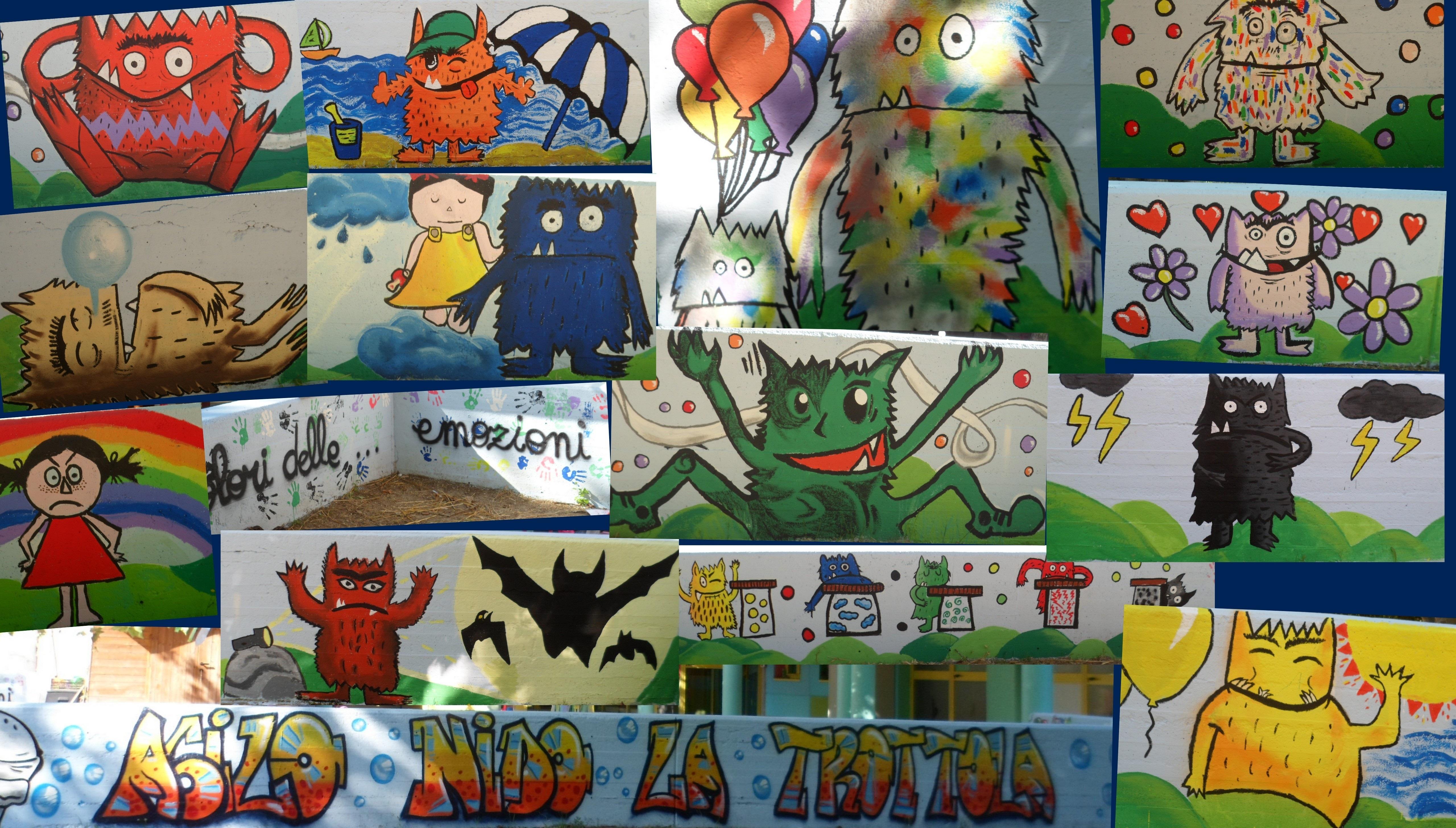 Inaugurazione Murales al Nido La trottola