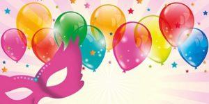 disegno di palloncini colorati e stelline