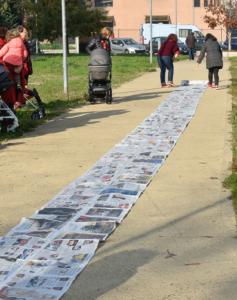 tappeto giornali